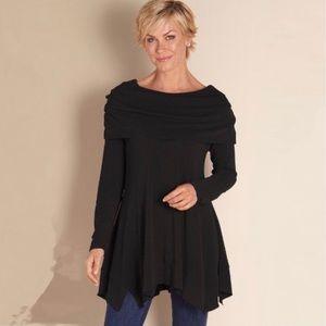 SOFT SURROUNDINGS B'call Black Sweater Tunic